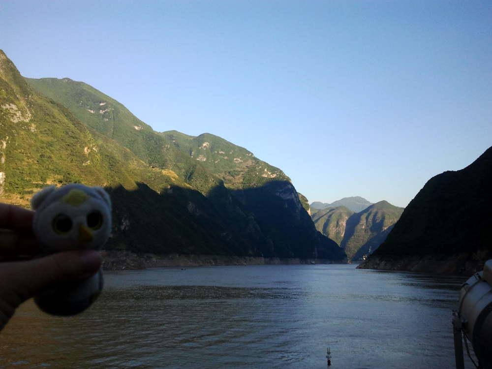 ... auch mal per Schiff (3 Schluchten, China) ...