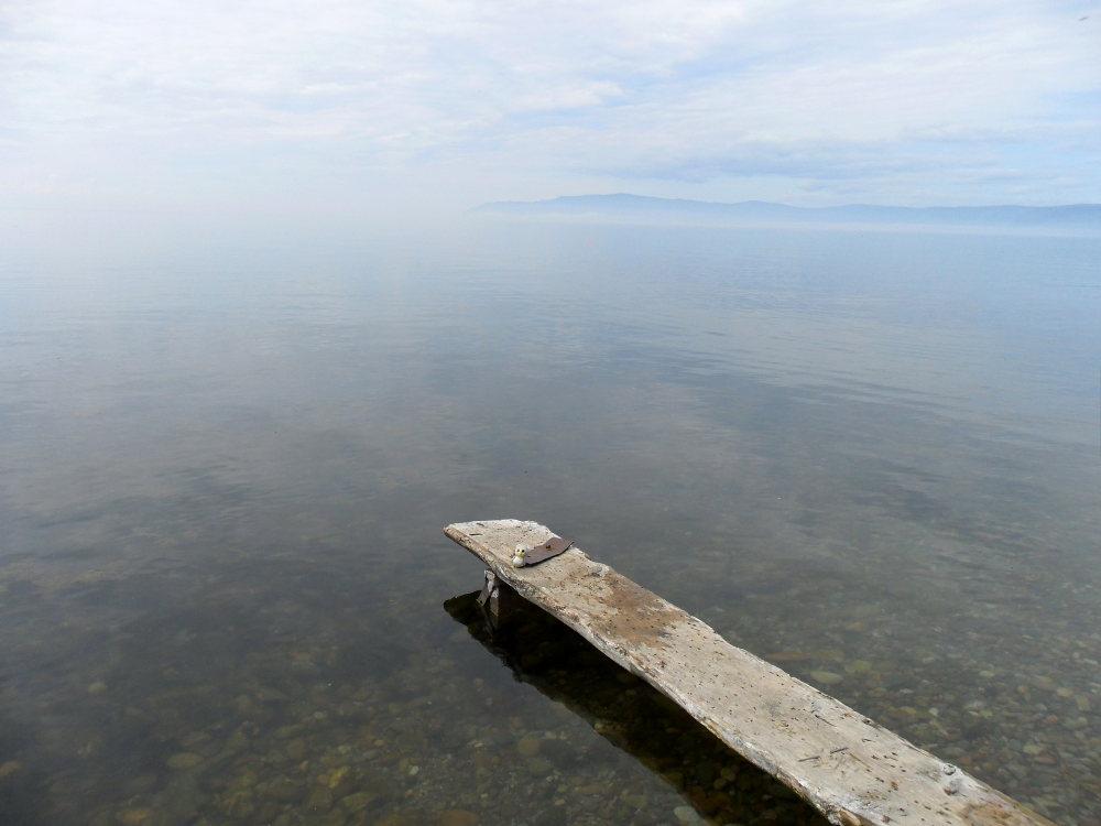 ... am größten See der Welt (Baikalsee, Russland)