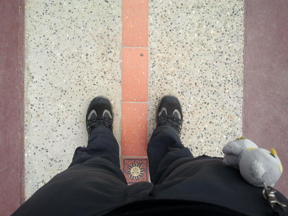 ... am richtigen Äquator (Quito, Equador)...