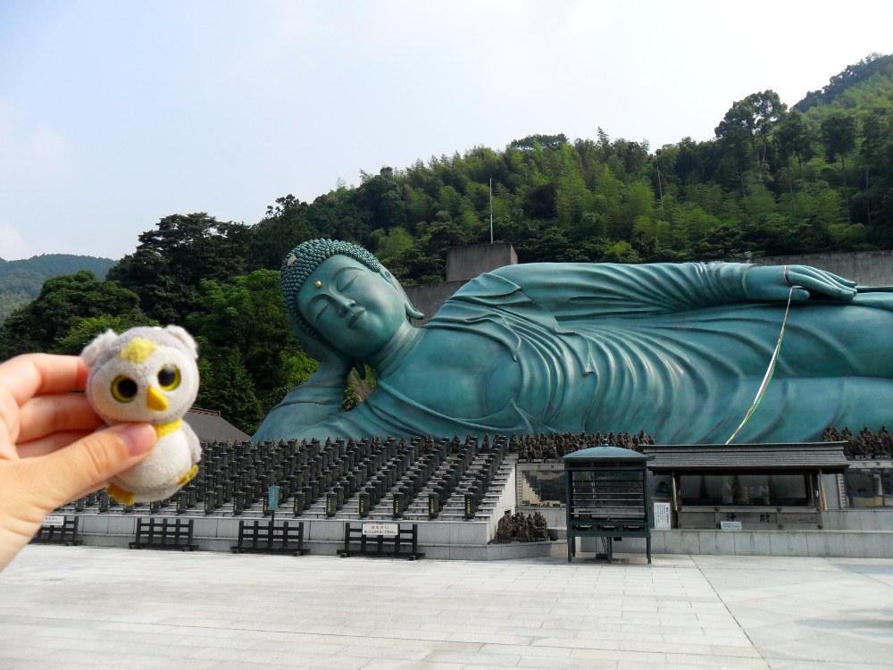 ... bei riesigen Buddhas (Iizuka, Japan)...