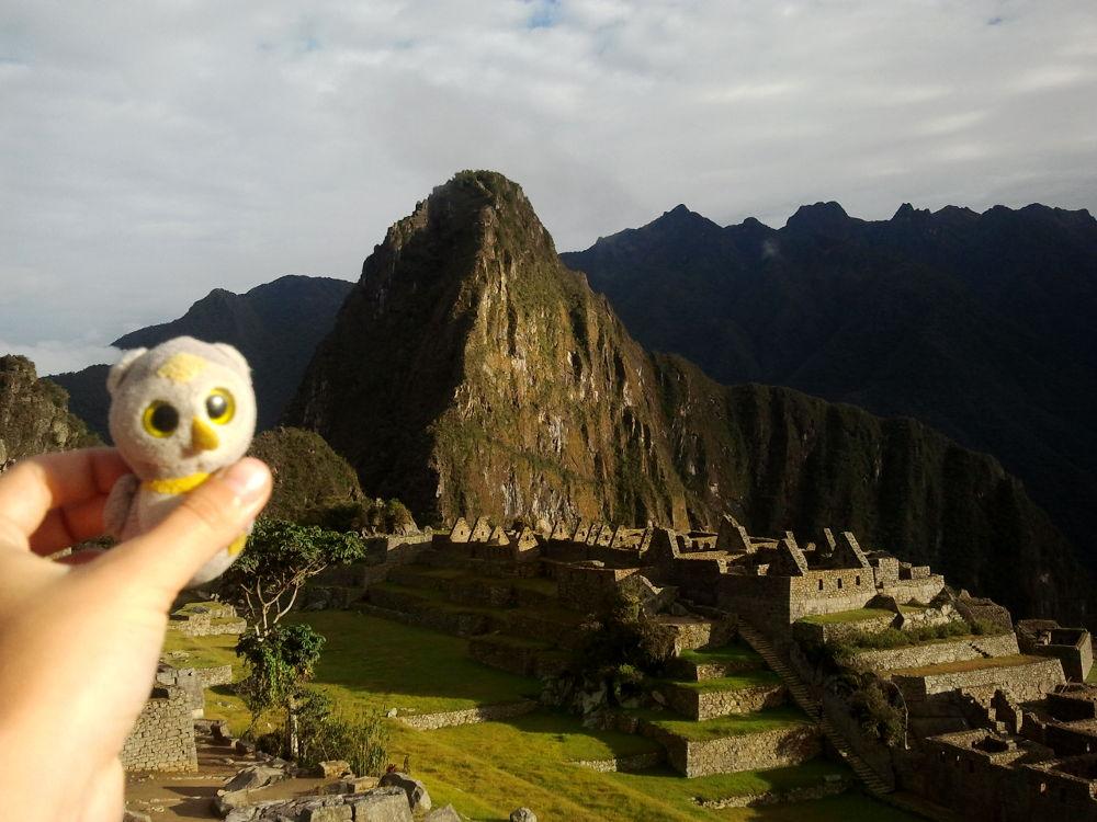 ...oder bei Wanderungen, die tageland gingen (Machu Picchu, Peru)...