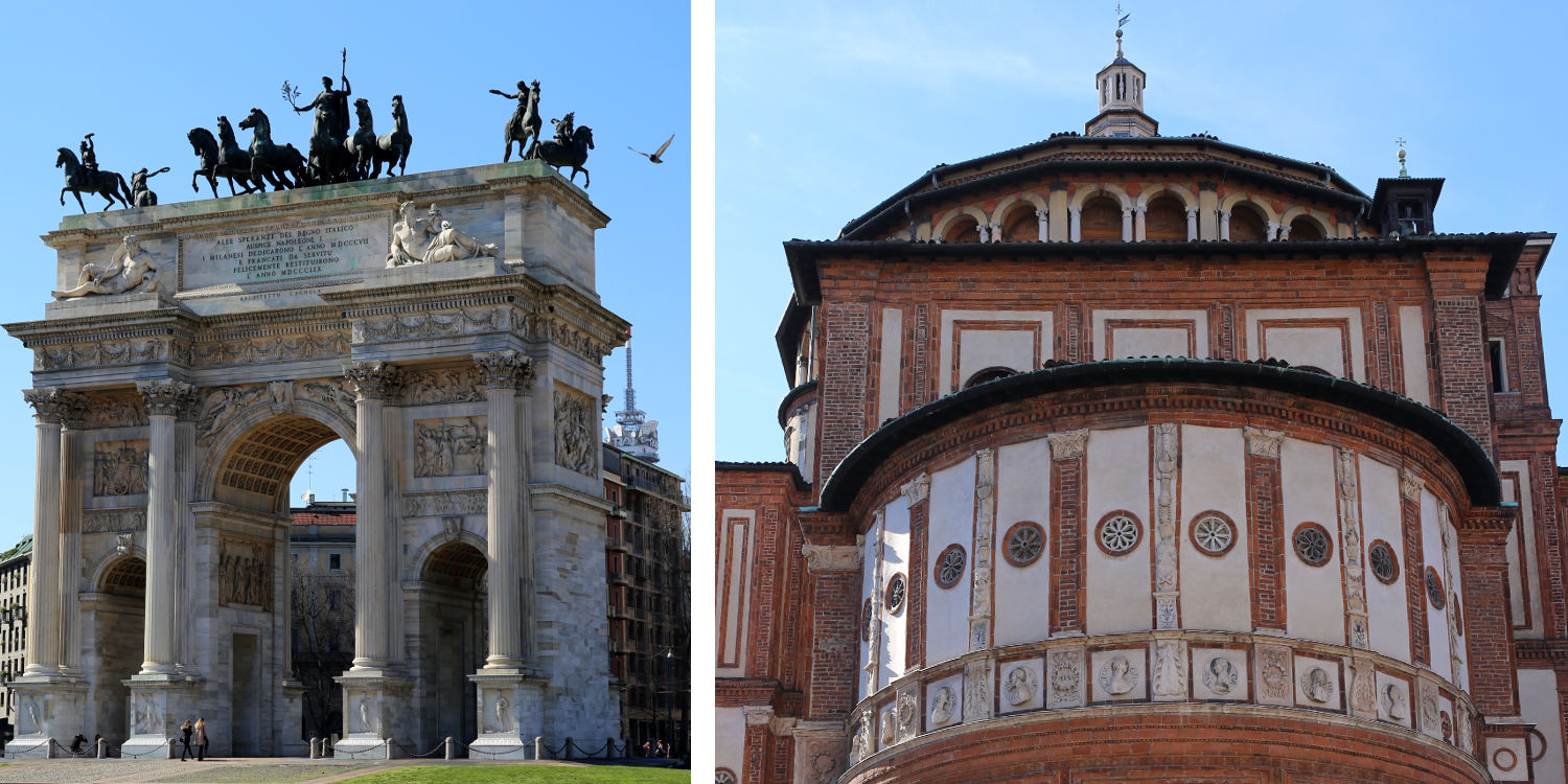 Milano-church and arc