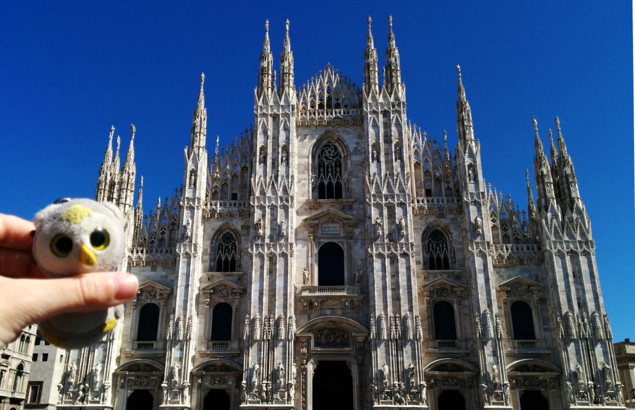 Vor dem Duomo. Mailand, Italien