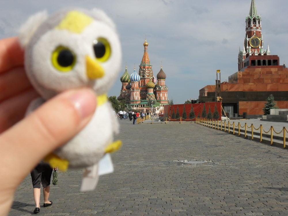 ... auf großen Plätzen (Moskau, Russland)...