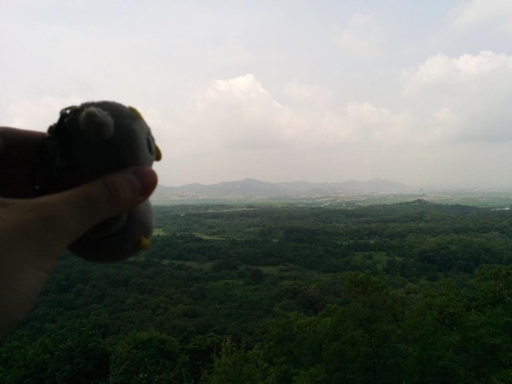 ... beim Blick nach Nordkorea (Dora Observatory, Südkorea)...