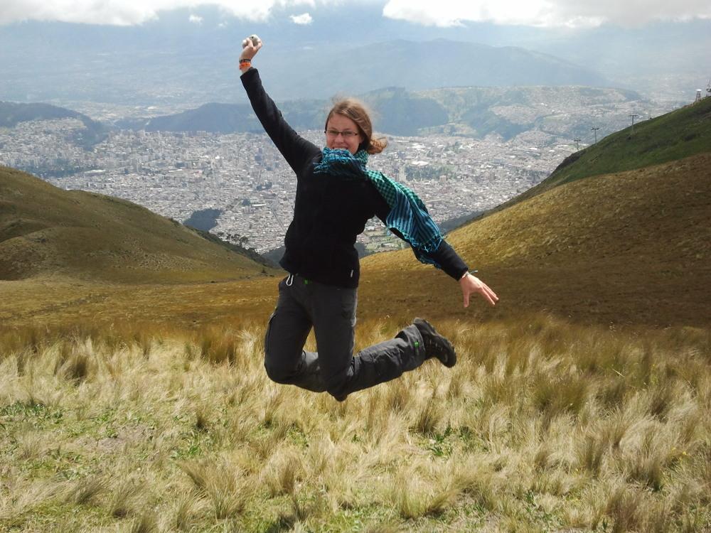 ... über den Wolken (Quito, Equador)...