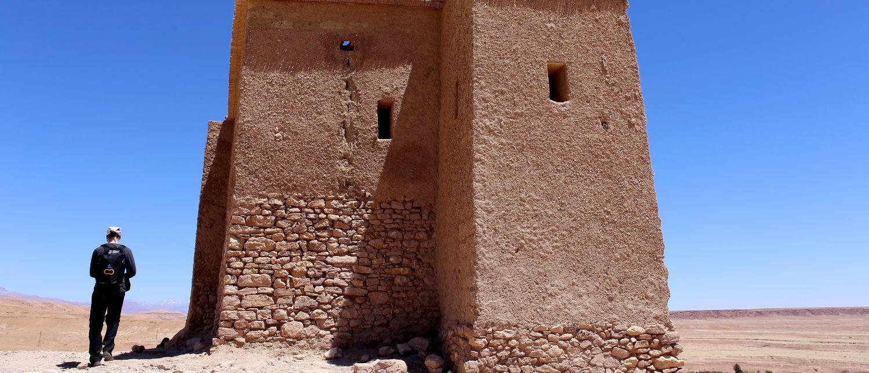 Unterwegs mit dem Aquapac in Ait Ben Haddou, Marokko.