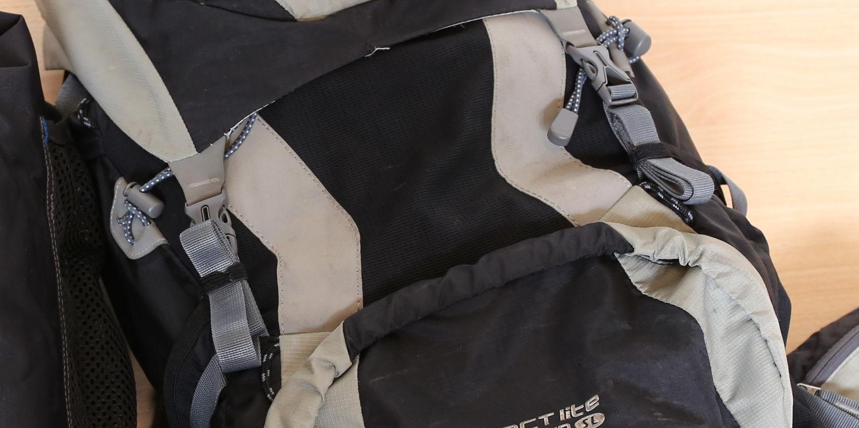 Fertiger Rucksack mit angebrachten Gummis
