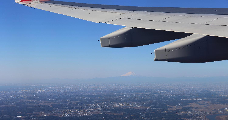 In aller Traurigkeit beim Abflug noch einen guten Blick auf Fuji-San gehabt.
