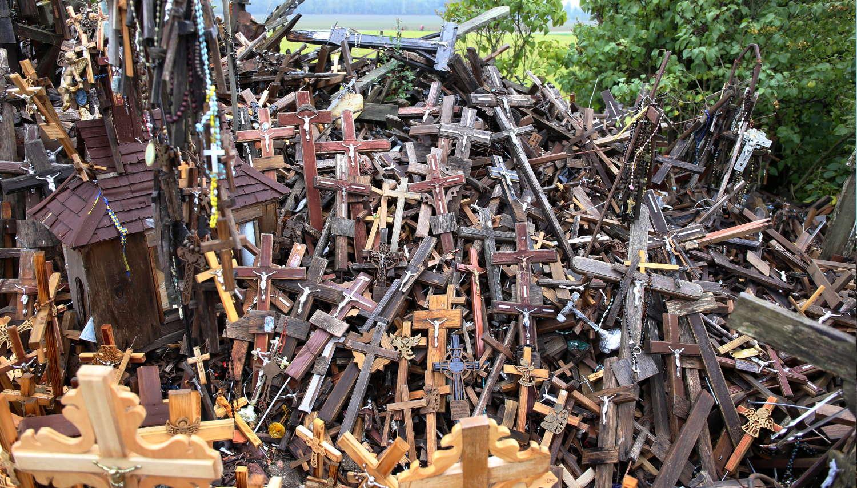 Teilweise gibt es einfach nur Haufen bestehend aus jede Menge Kreuzen.